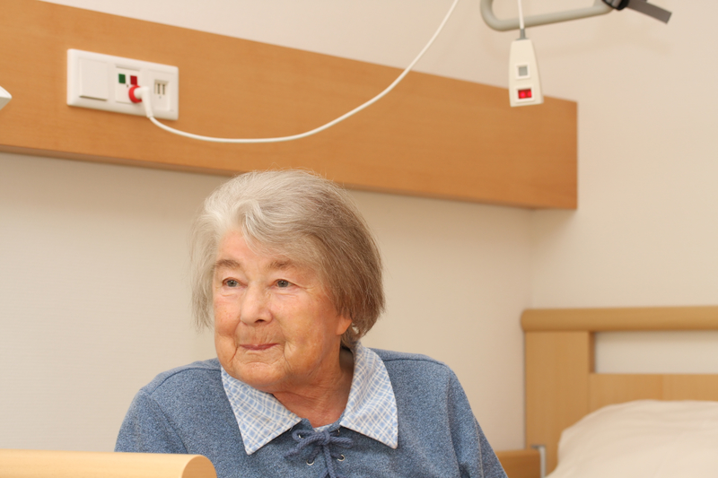 Photo of a woman at the hospital