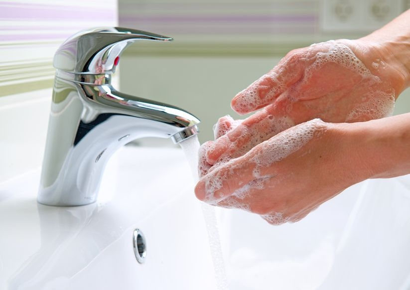 Photo of someone washing their hands