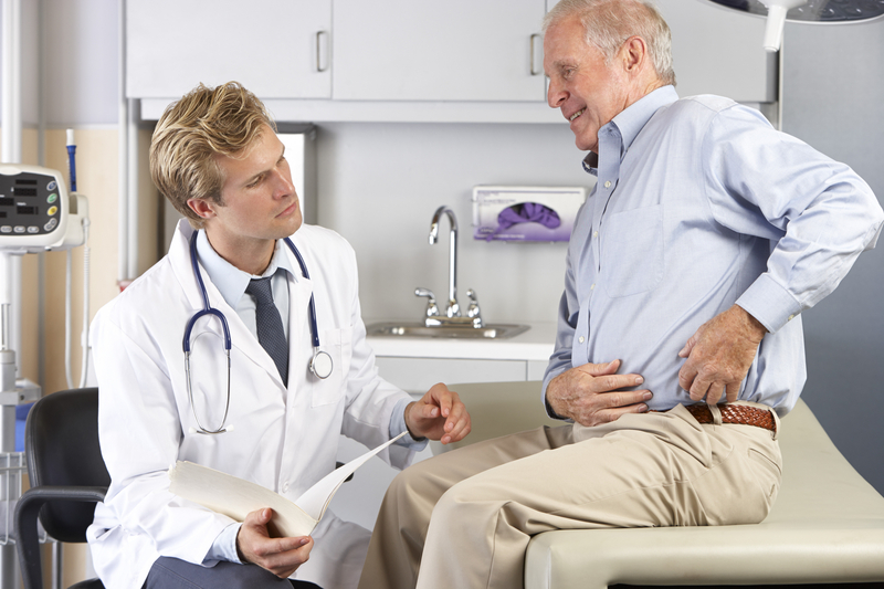 Photo of a patient and doctor