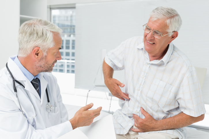 Photo of a doctor with a shingles patient