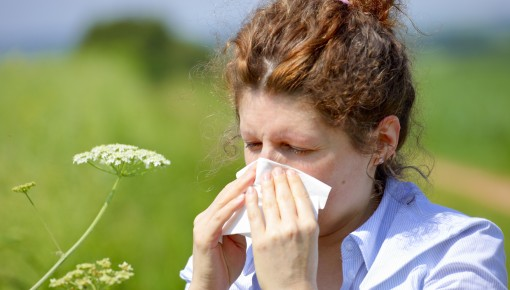 Photo of a woman with hay fever