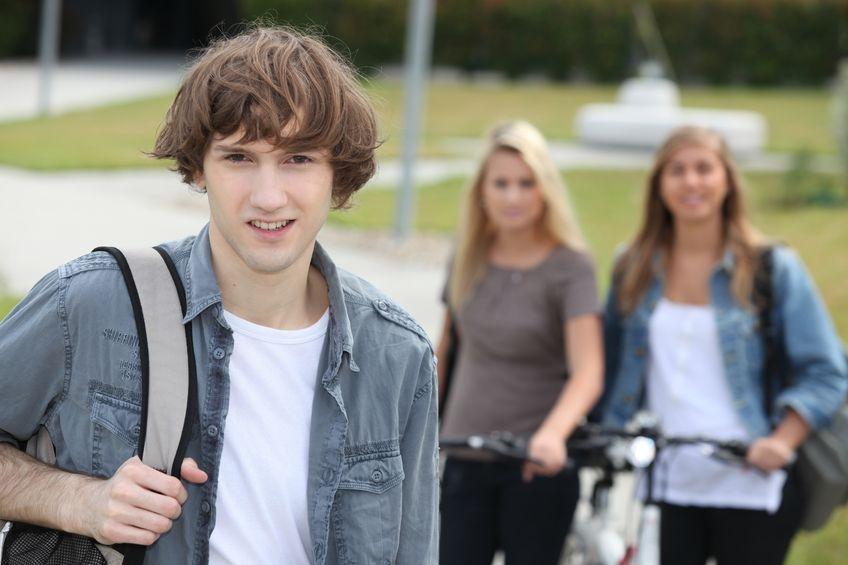Photo of three teenagers