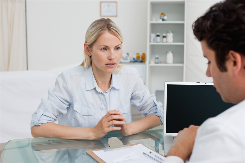 Photo of a woman at the doctor's