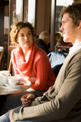 Photo of couple in a cafe