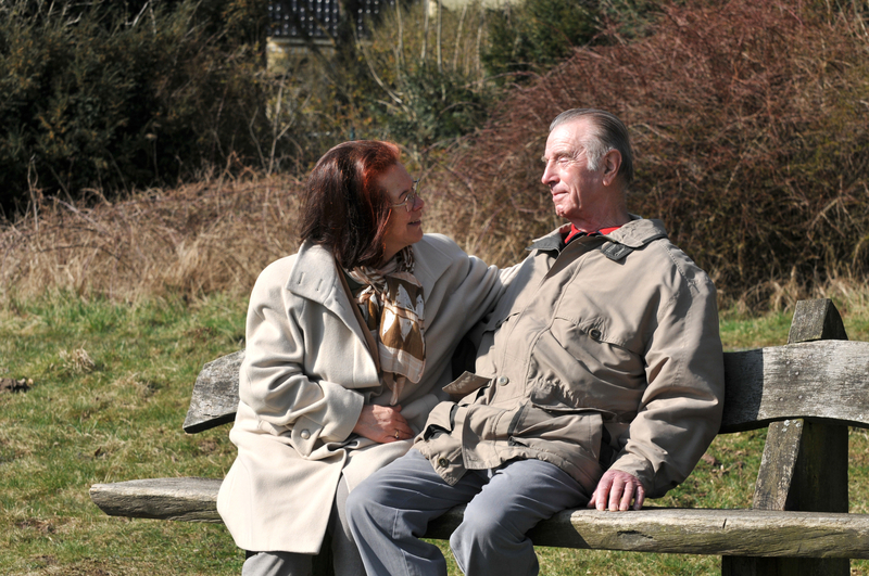 Photo of an older couple at the park