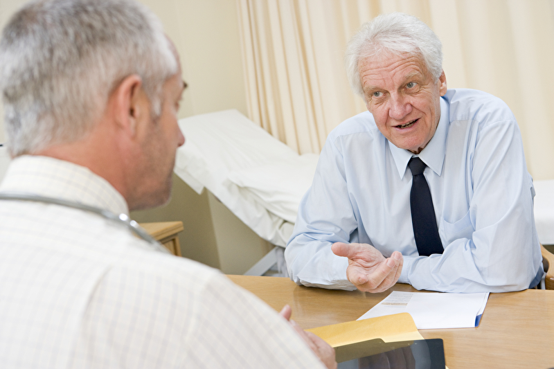 Photo of a man at a doctor's appointment