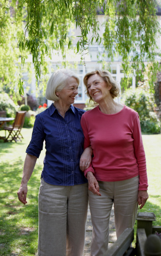 Photo of two women in the garden