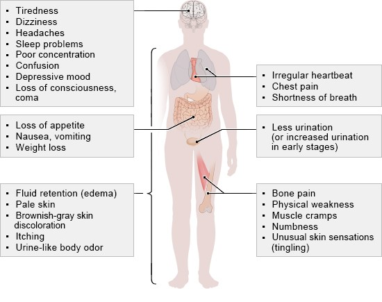 Illustration: These symptoms may occur alone or in any combination