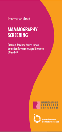 Illustration: Title page of the mammography decision aid (in German)