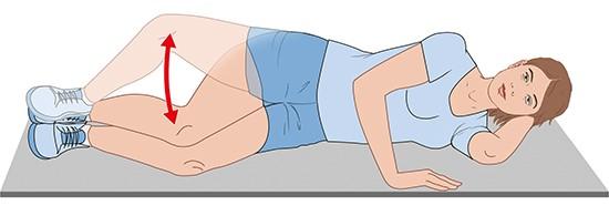 Illustration: Side-lying clam exercises