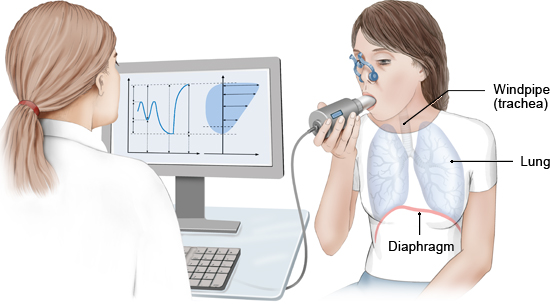 Illustration: Spirometry - as described in the information